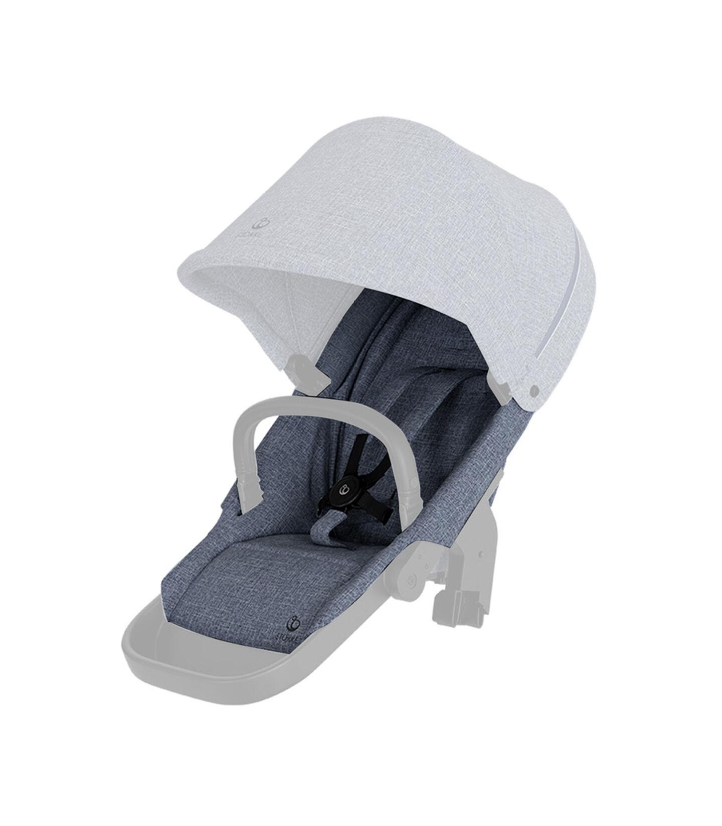 Stokke® Beat seat textile BlueMel wo Can Harness Shpg Basket, Azul Melange, mainview