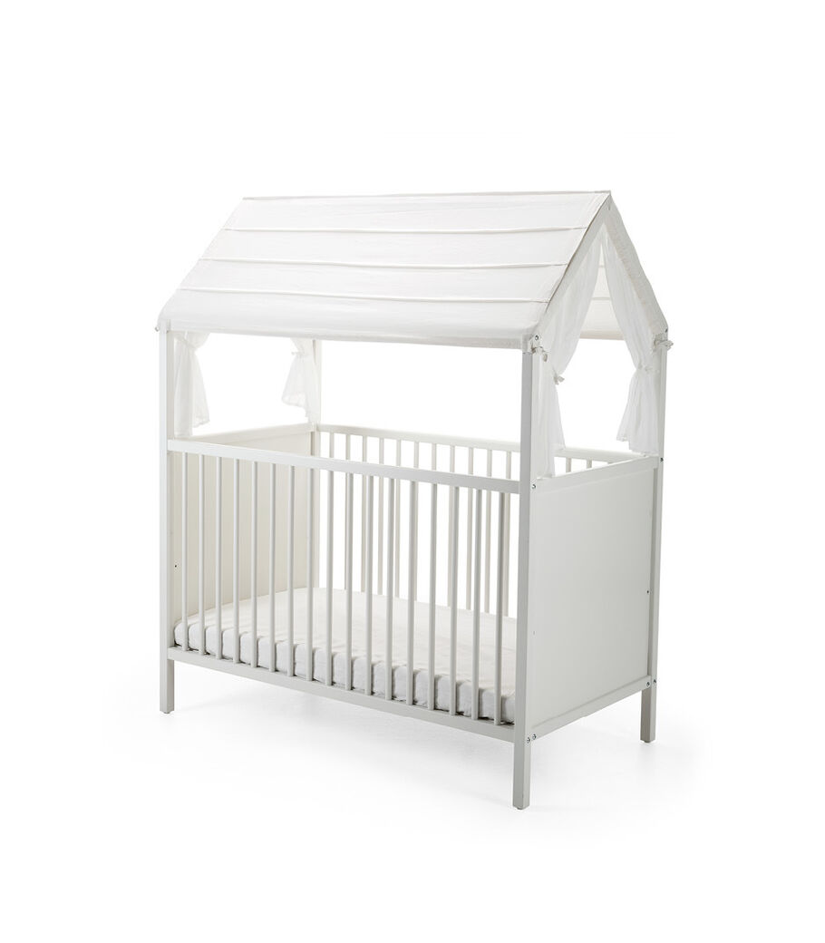 Stokke® Home™ Bed, White. Roof Textile sold separately.