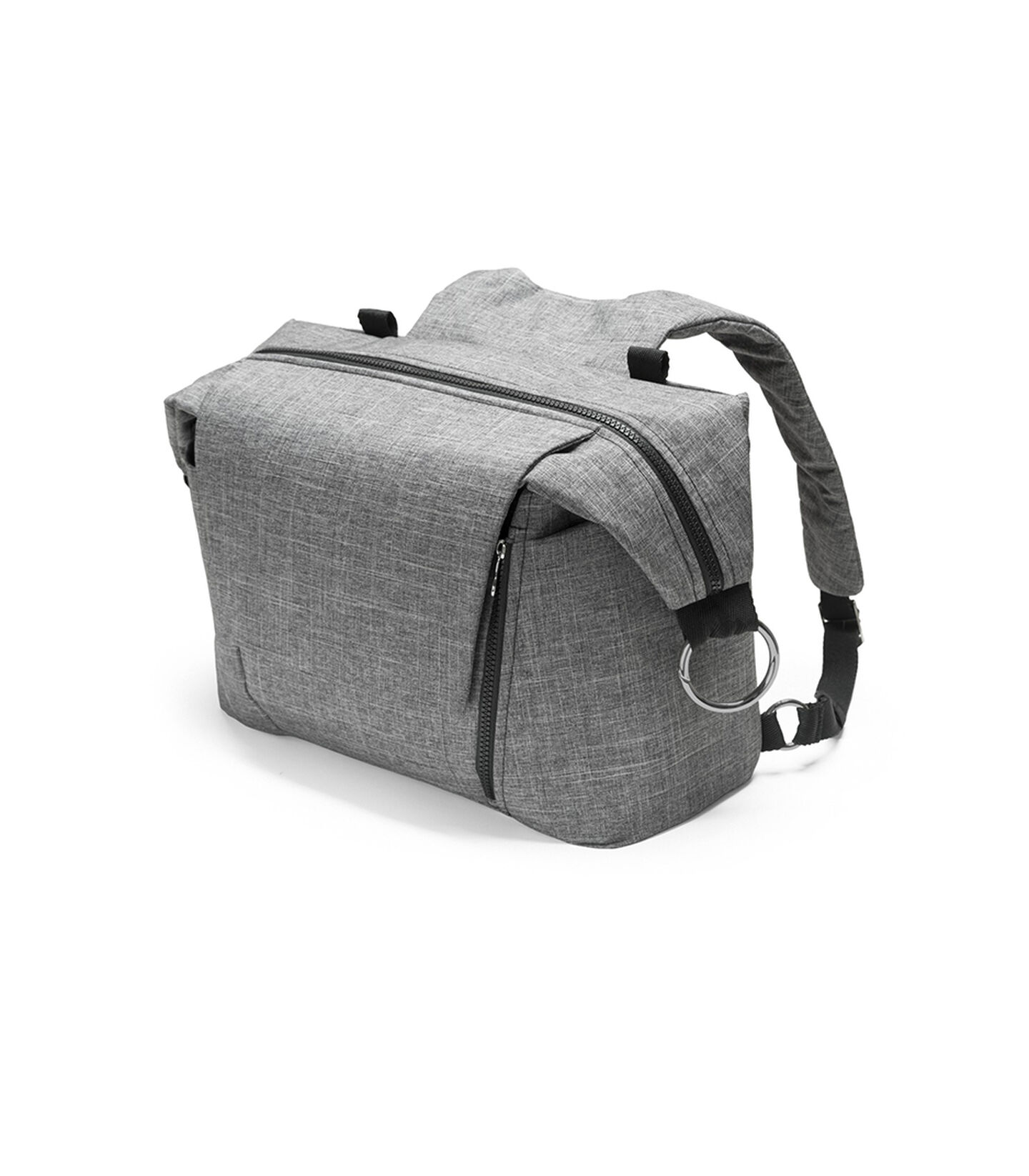 Stokke® Stroller Changing Bag, Black Melange. view 2