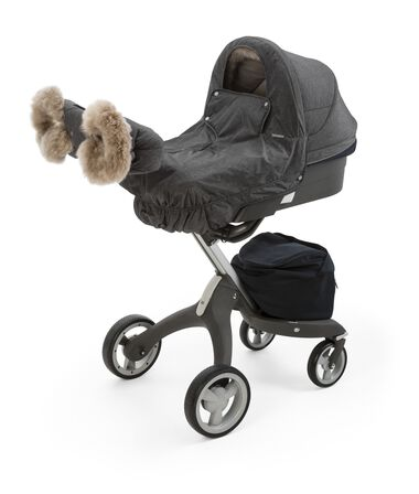 Stokke® Xplory® Carry Cot with Winter Kit, Antracite Melange.