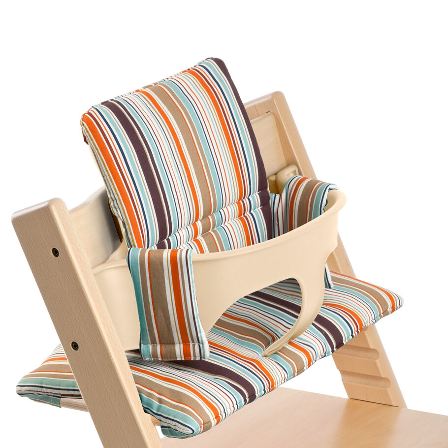Tripp Trapp® Natural with Baby Set and Signature Stripe cushion