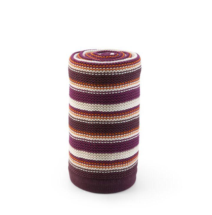 Stokke® Poussette Couverture en tricot PurpleOrange 100x77cm, Violet & Orange, mainview