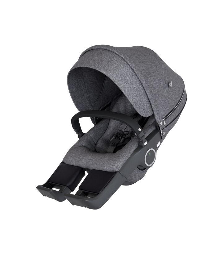Stokke® Stroller Seat Black Melange, Noir mélange, mainview view 1
