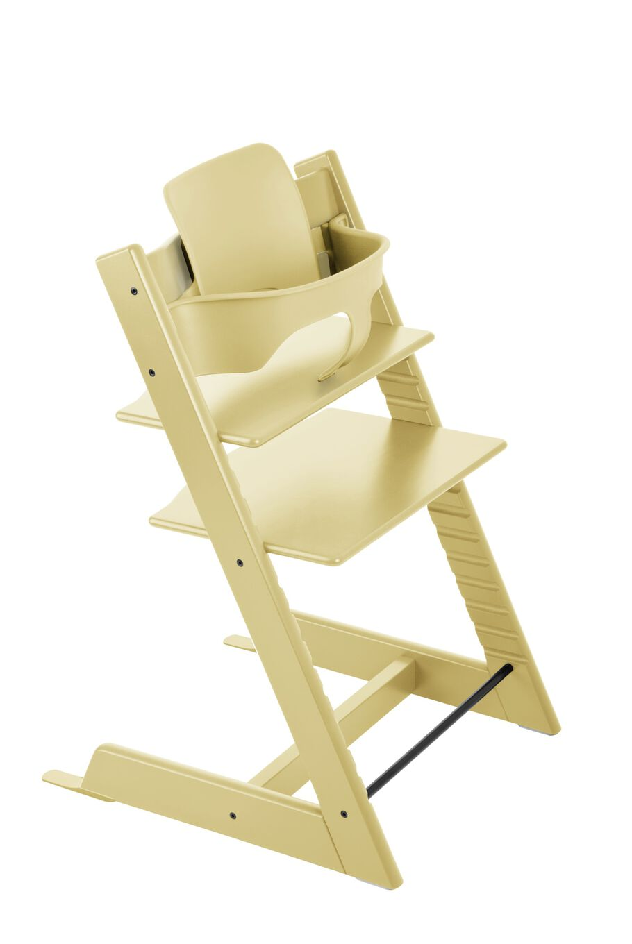 Tripp Trapp® with Tripp Trapp® Baby Set, Wheat Yellow.