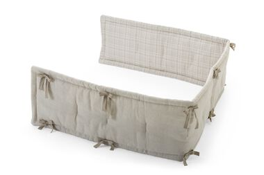 Stokke® Half Bumper, Natural/Beige Checks.