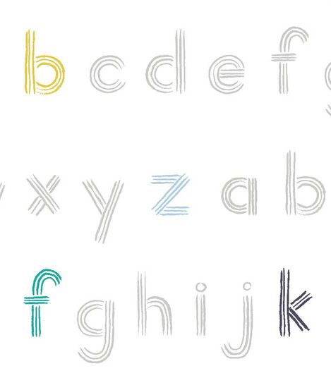 Stokke® Sleepi™ Fitted Sheet Pehr Rainbow Alphabet Lines, Rainbow Alphabet Lines, mainview view 3