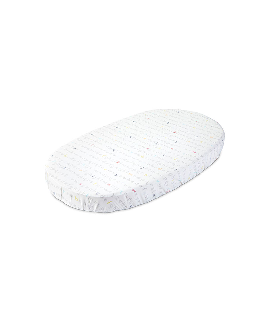 Stokke® Sleepi™ Fitted Sheet by Pehr, Rainbow Alphabet Lines, mainview view 5