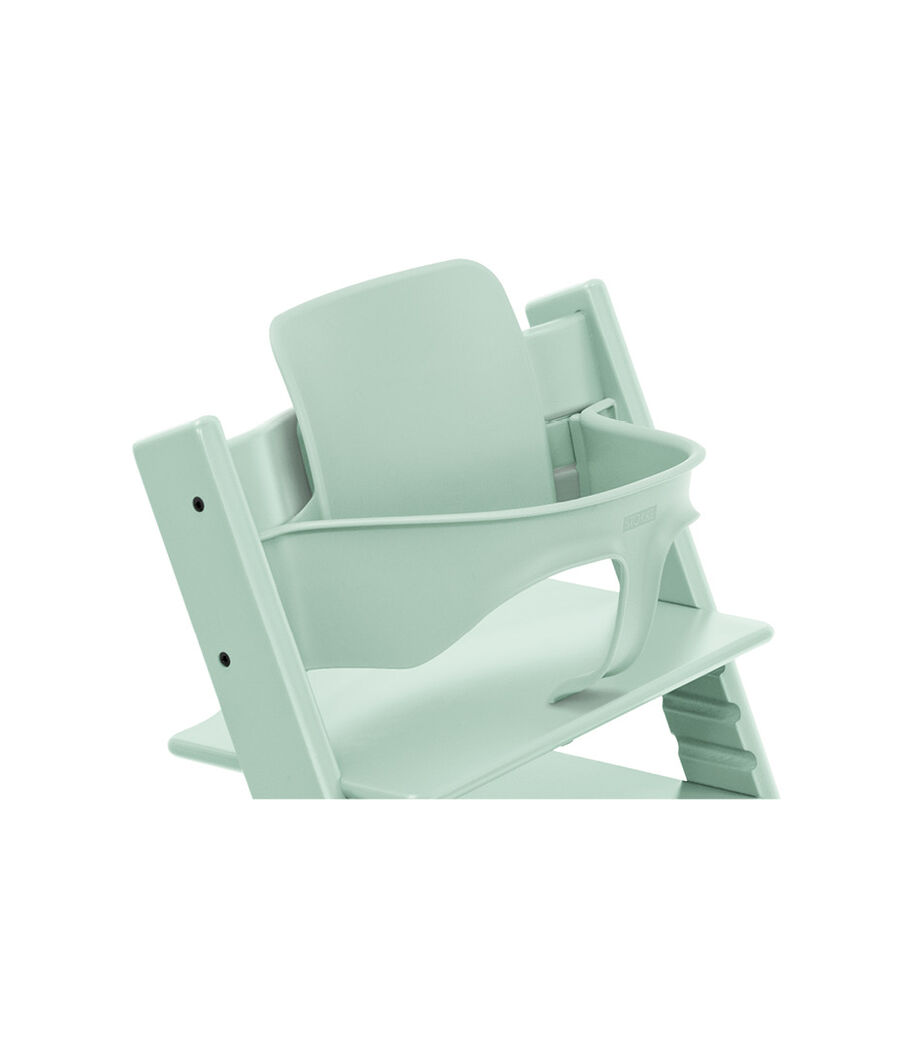 Tripp Trapp® Chair Soft Mint, Beech, with Baby Set. view 2