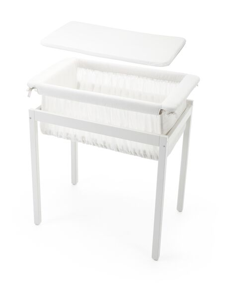 Stokke® Home™ Cradle, mattress and Cradle Stand.