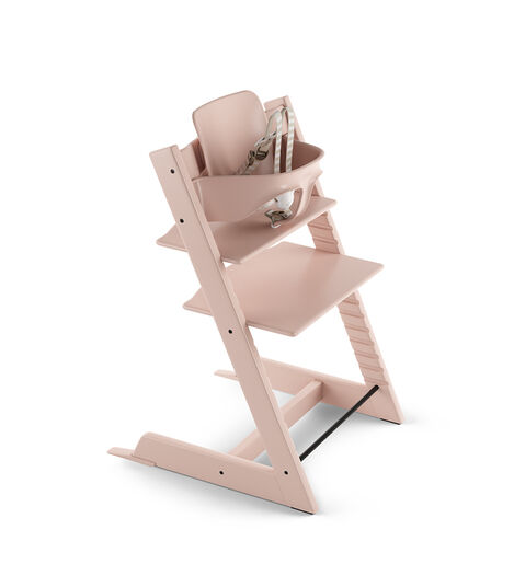 Tripp Trapp® Chair Serene Pink with Baby Set. US version.