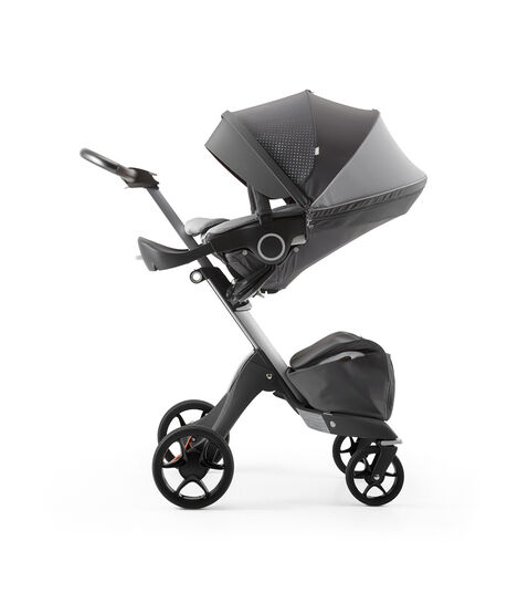 Stokke® Xplory® Silver Chassis and Seat. Athleisure Grey. view 3