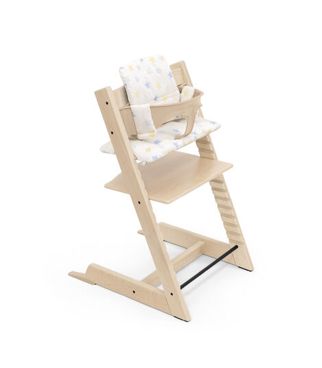 Tripp Trapp® High Chair Natural with Baby Set and Classic Cushion Stars Multi. view 7