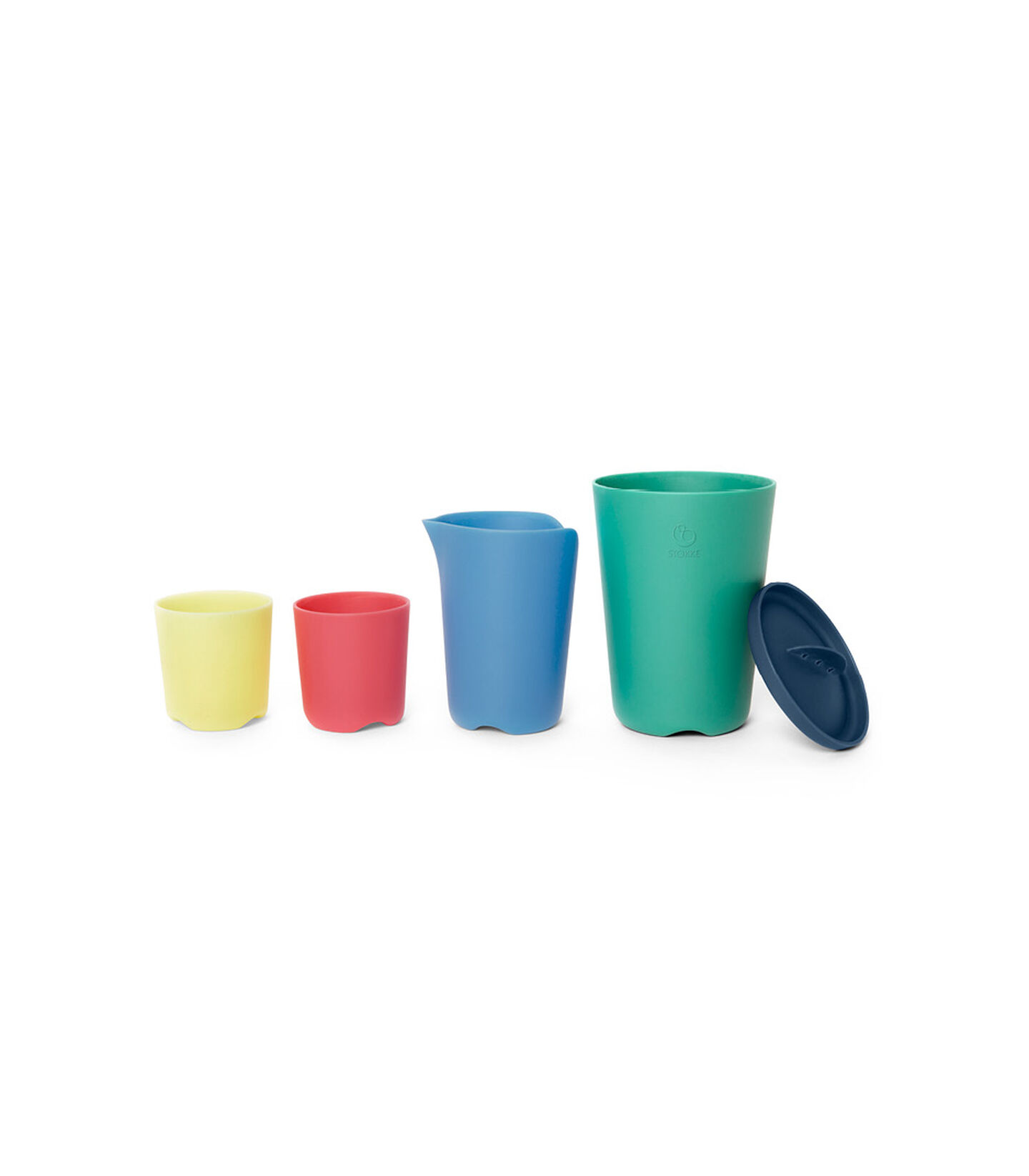 Stokke® Flexibath® Toy Cups Multi Colour, Multicolor, mainview view 2