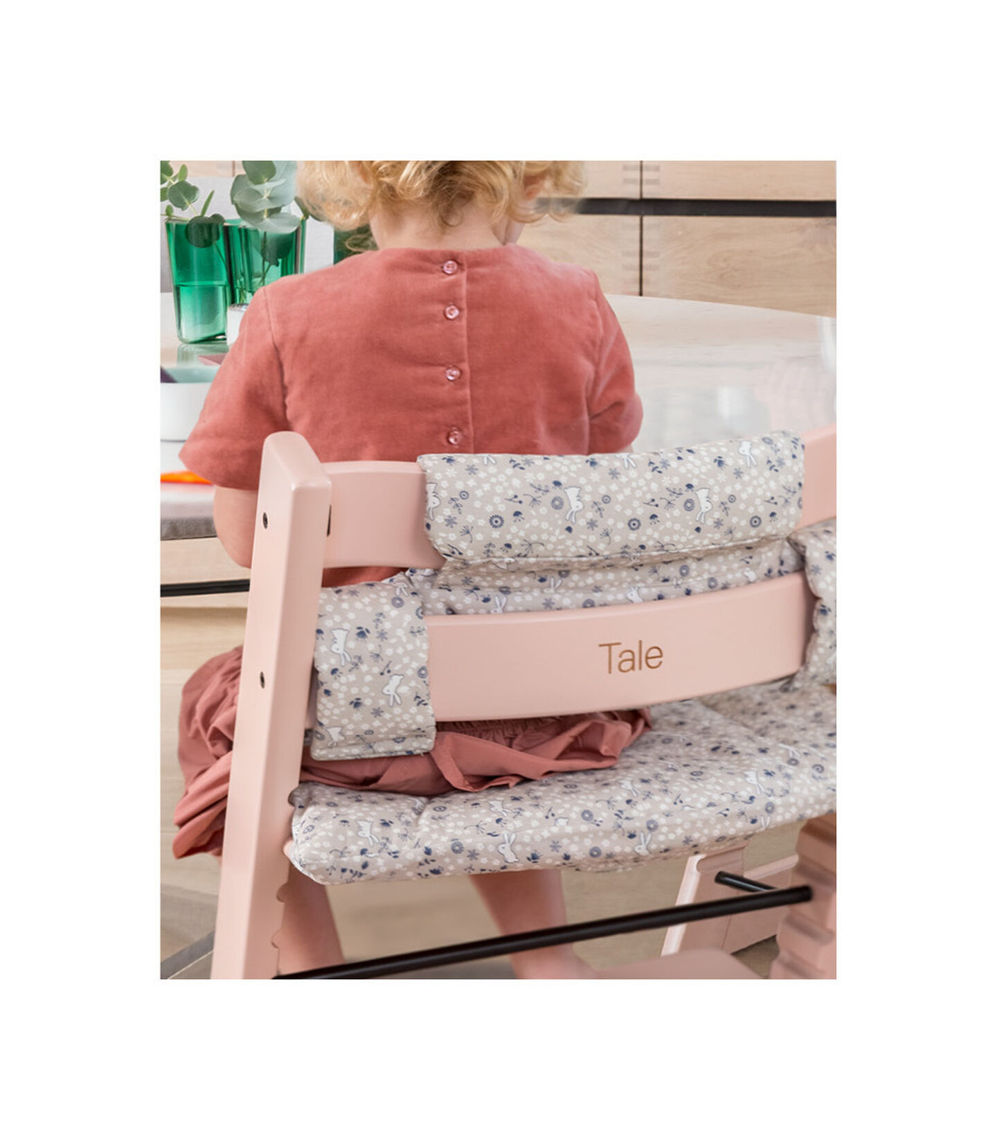 Tripp Trapp® Chair with engraving. Serene Pink.