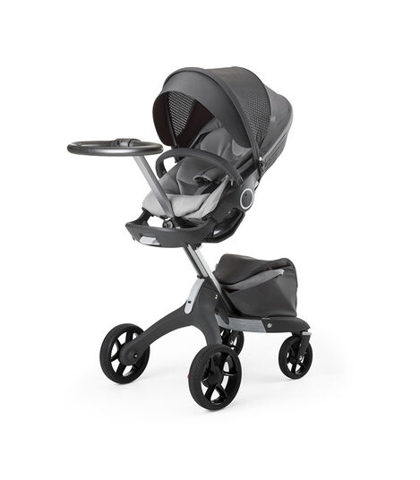 Stokke® Xplory® Silver Chassis and Seat. Athleisure Grey. view 4
