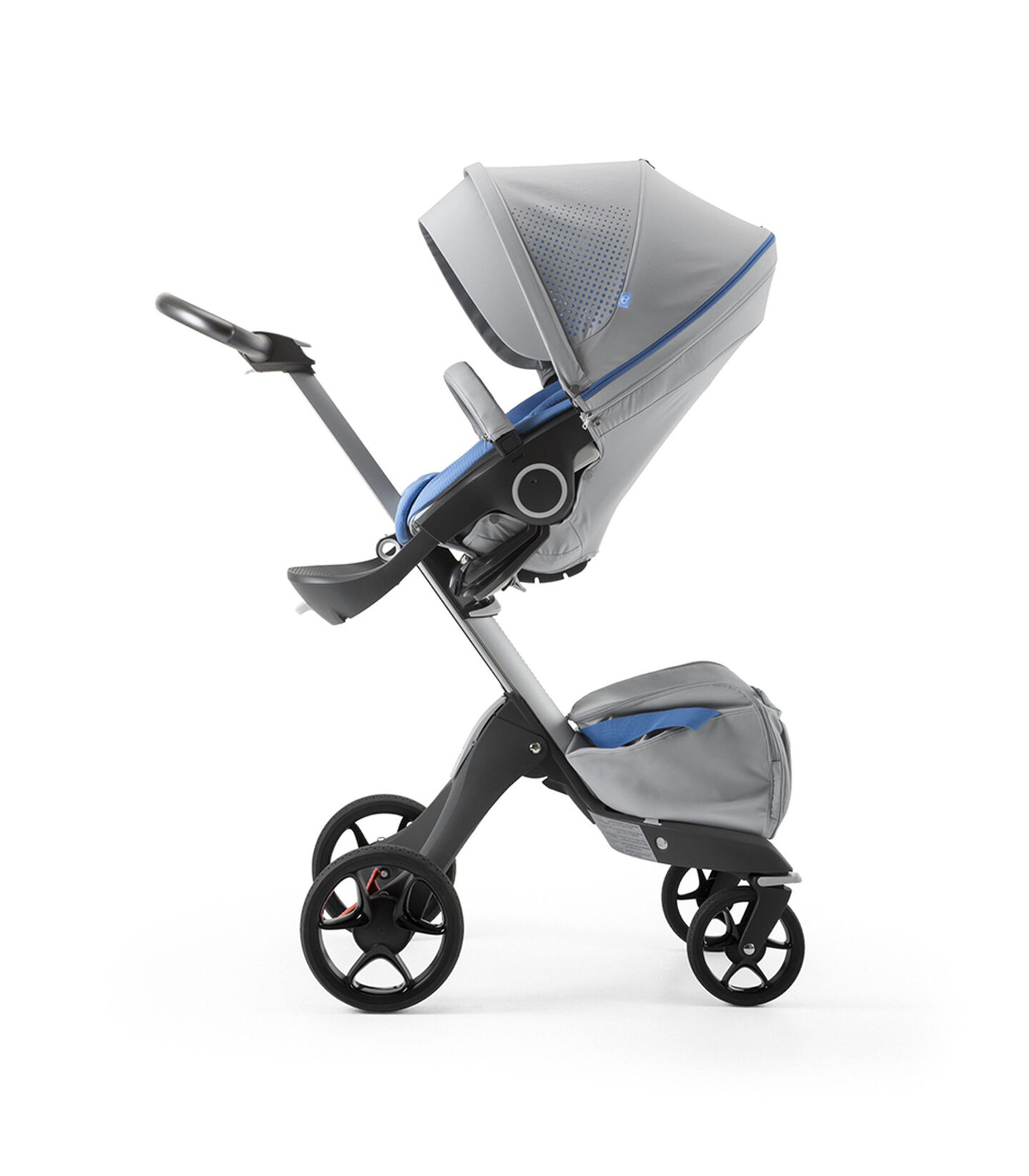 Stokke® Xplory® Silver Chassis and Seat. Athleisure Marina. view 1