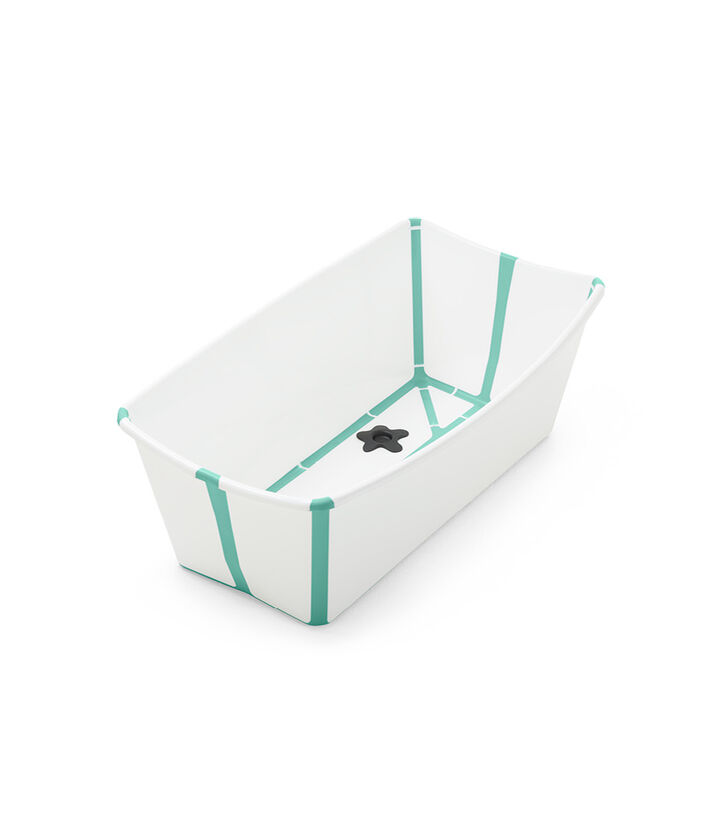 Stokke® Flexi Bath® bath tub, White Aqua. Open. view 1