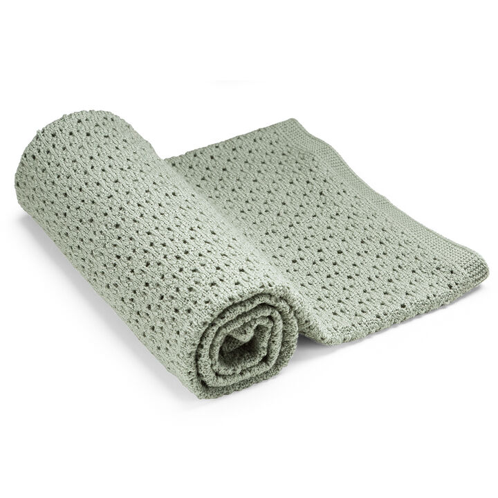 Blanket, Merino Wool, Green view 1