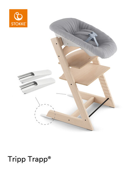 Tripp Trapp® Natural and Tripp Trapp® Newborn Set with Grey  textiles. Active position. view 7