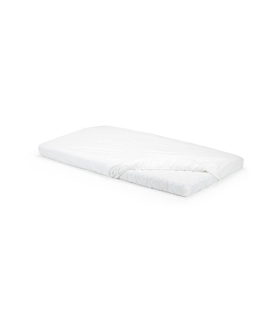 Stokke® Home™ Mattress. Fitted Sheet White, Sold separately.