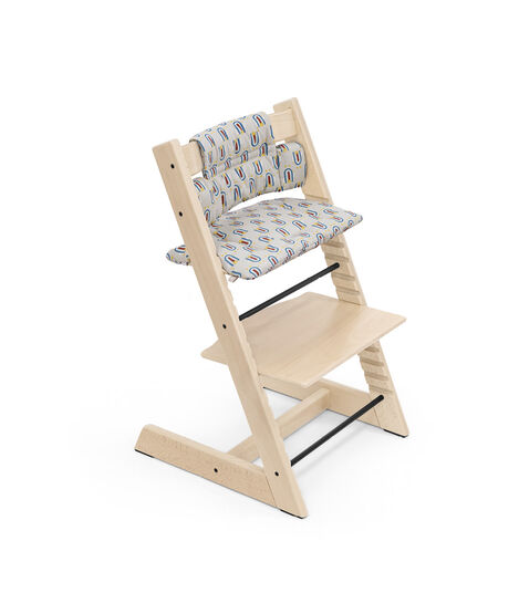 Tripp Trapp® Chair Natural with Classic Cushion Robot Grey. view 6
