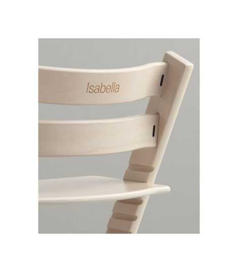 Tripp Trapp® Chair with engraving. Whitewash.