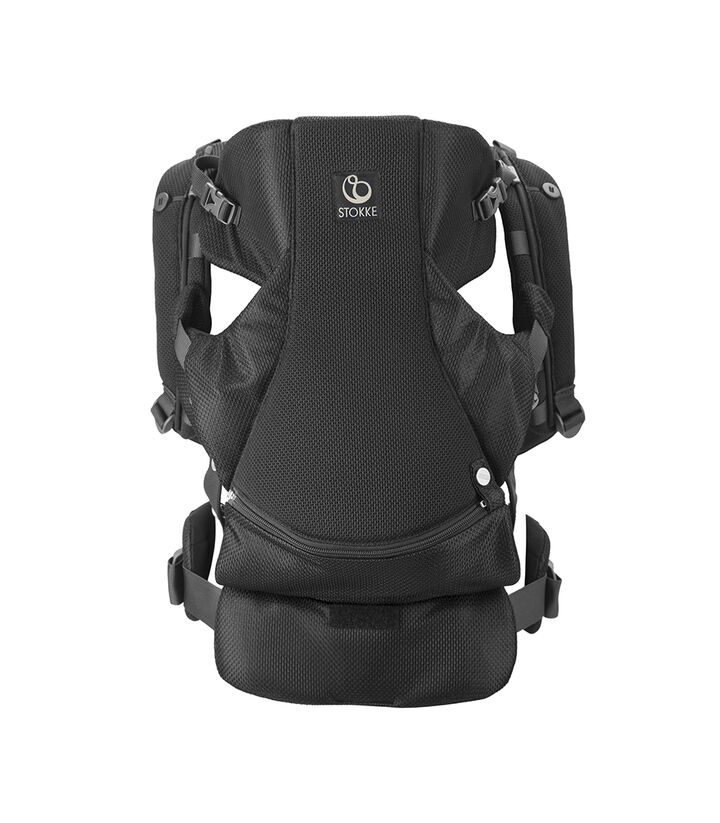 Stokke® MyCarrier™ front- og ryggbærestykke, Black Mesh, mainview view 1