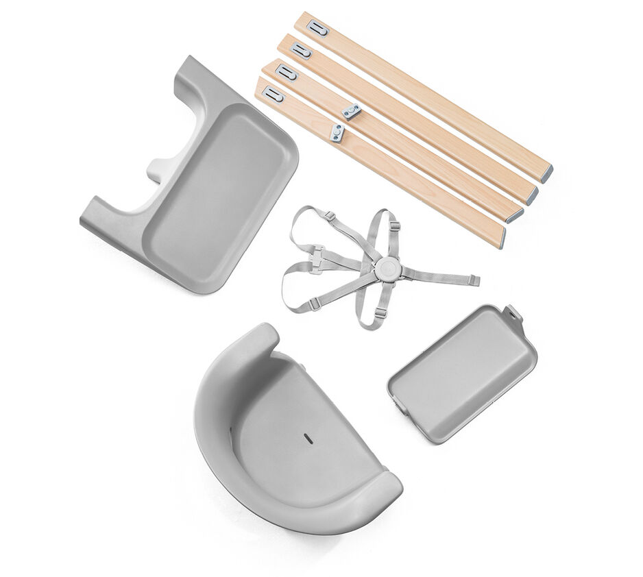 Stokke® Clikk™ High Chair Soft Grey, Gris Nube, WhatsIncl view 1