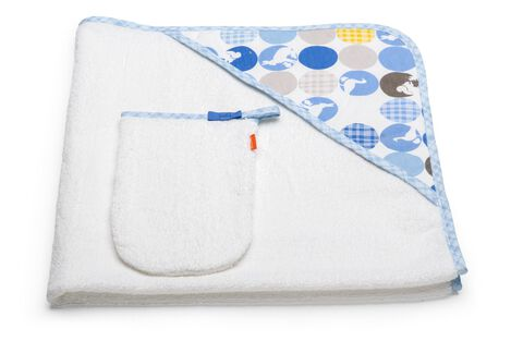 Hooded Towel, Silhouette Blue