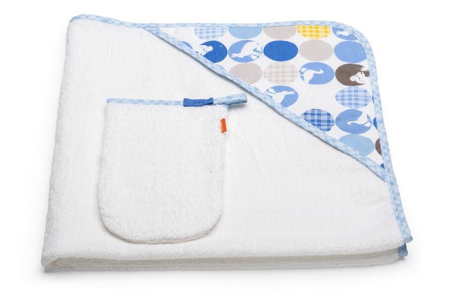 Hooded Towel, Silhouette Blue