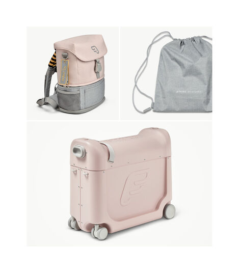 JetKids™ by Stokke® Crew BackPack and BedBox V3, Pink Lemonade. What's included. view 5