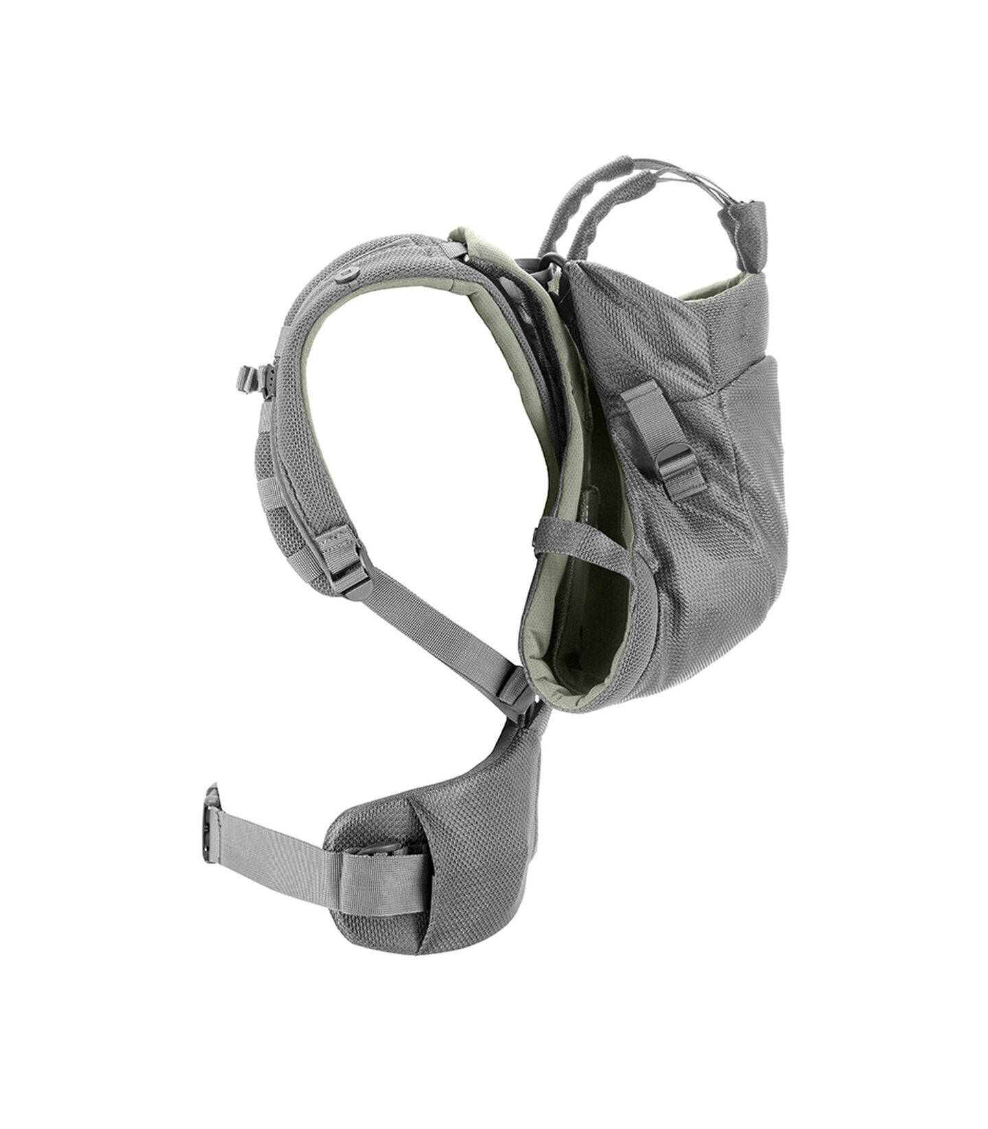 Stokke® MyCarrier™ Back Carrier Green Mesh. Profile.