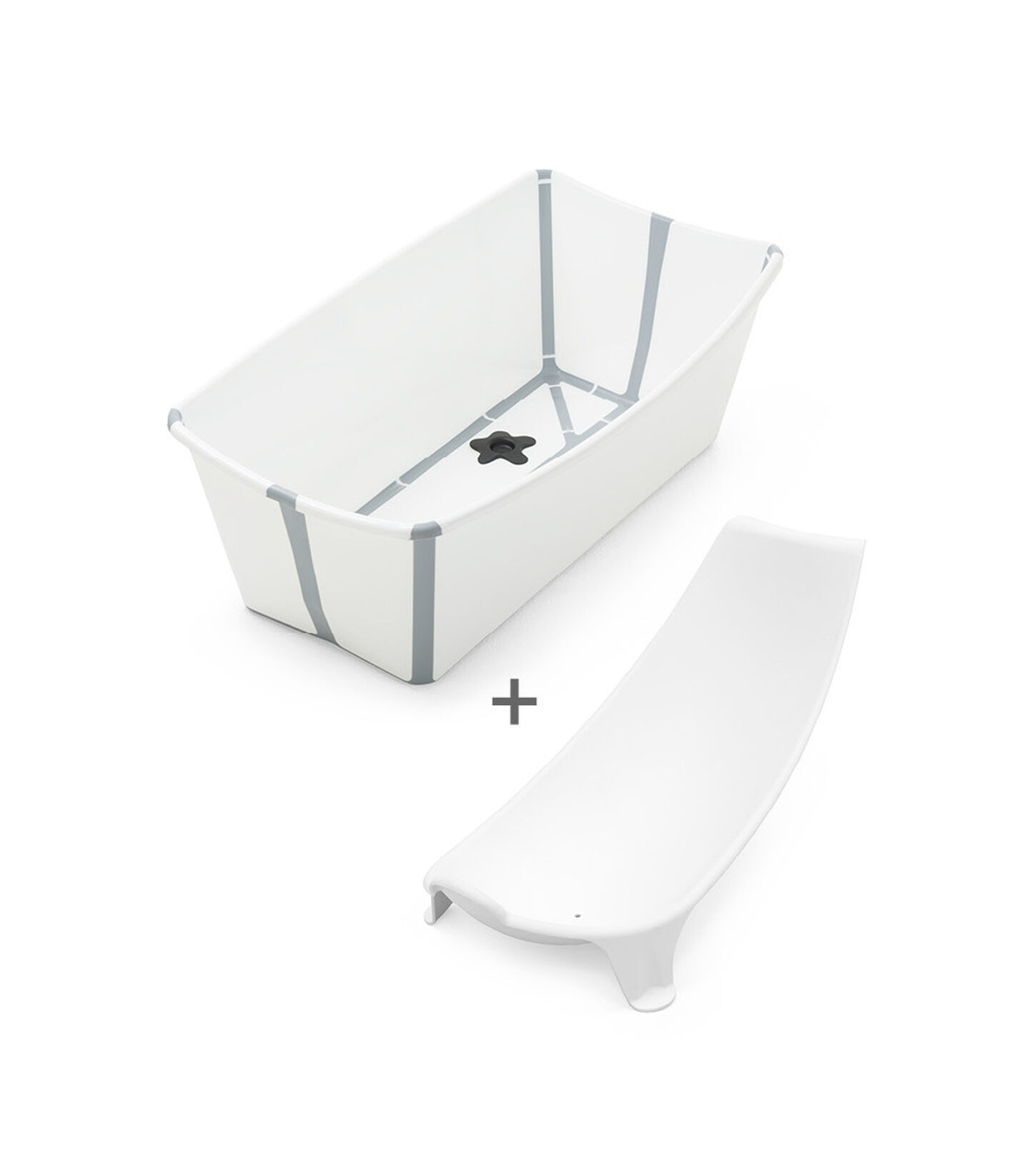 Stokke® Flexi Bath® Bundle - Bath Tub and Newborn Support, White Grey.
