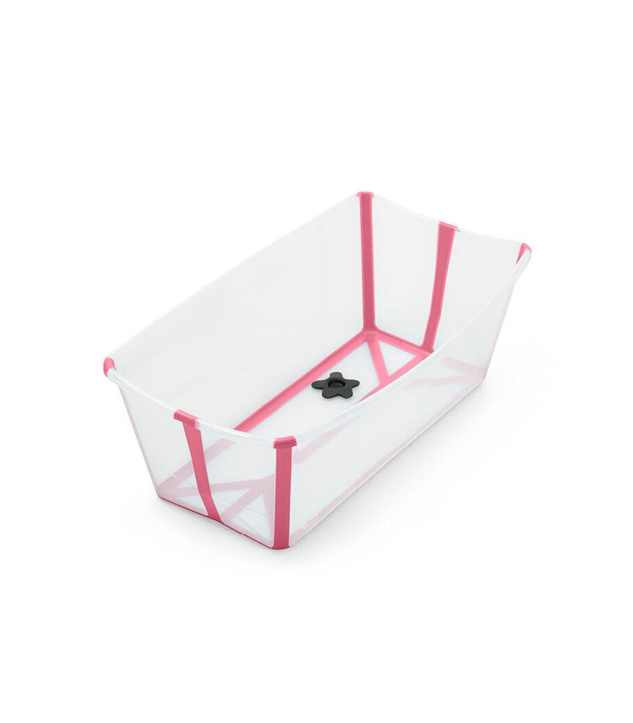 Stokke® Flexi Bath® bath tub, Transparent Pink. Open. view 3