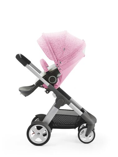 Stokke® Crusi™ with Stokke® Stroller Seat and Scribble Peony Pink Summer Kit