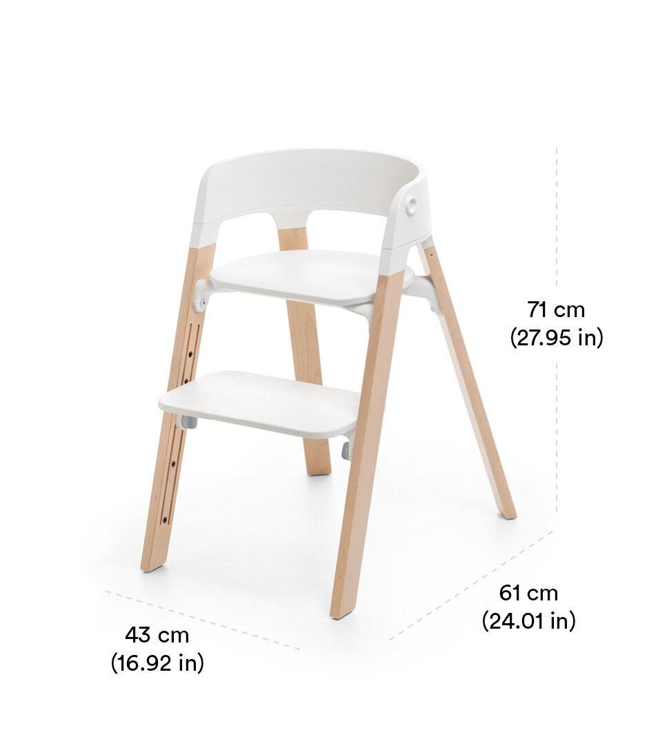 Stokke® Steps™ Chair White Hazy Grey view 1