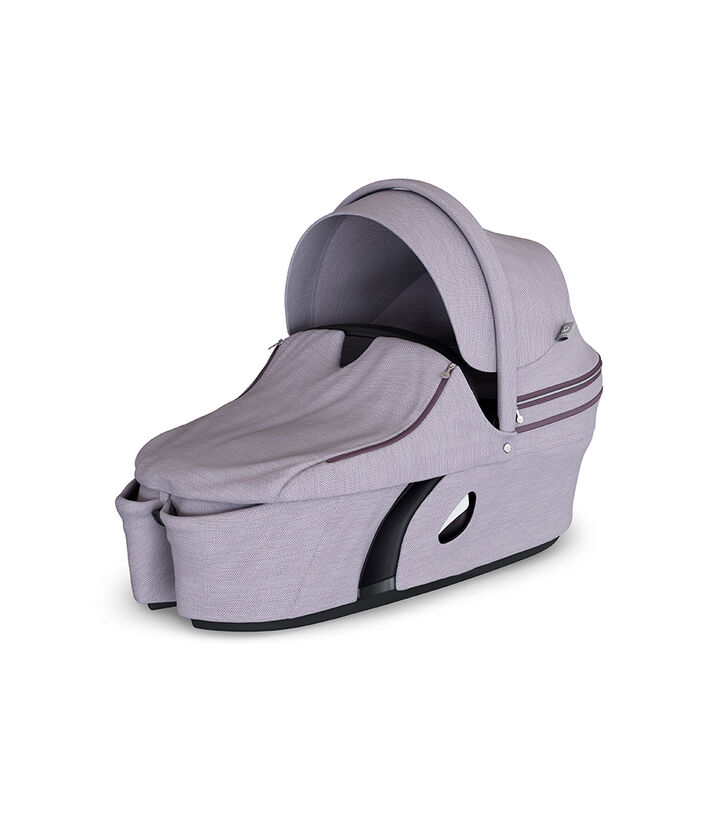 Stokke® Xplory® Carry Cot Brushed Lilac. With Storm Cover. view 1