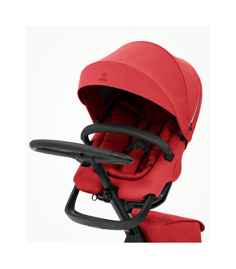 Stokke® Xplory® X Ruby Red Stroller with Seat. Zoomed. view 2