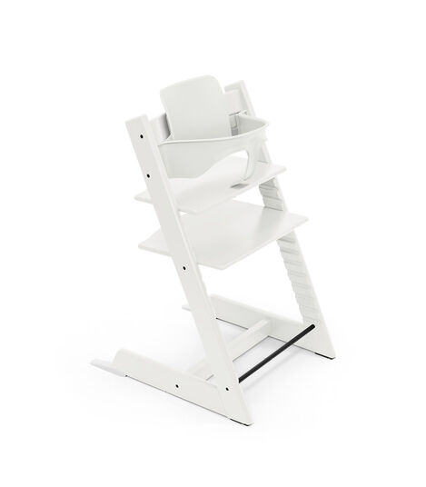 Tripp Trapp® chair White, with Baby Set. view 5
