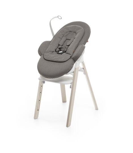 Stokke® Steps™ Chair White Seat Whitewash Legs, Whitewash, mainview view 5