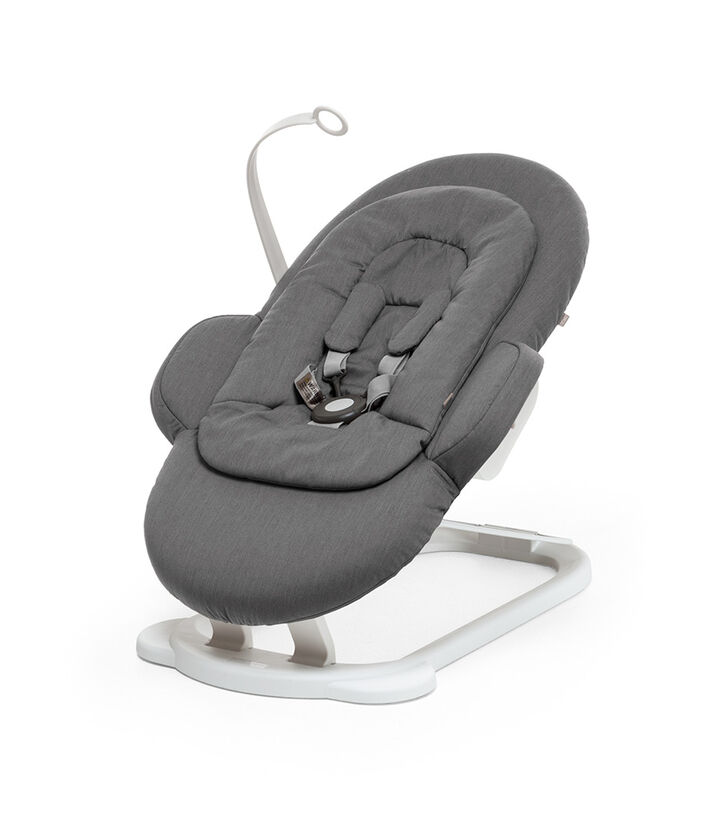 Stokke® Steps™ Bouncer, Deep Grey White Chassis, mainview view 1