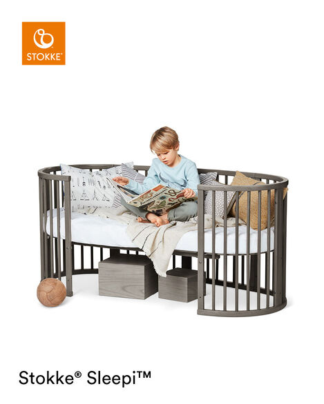 Stokke® Sleepi™ Junior Extension Hazy Grey, Hazy Grey, mainview view 8