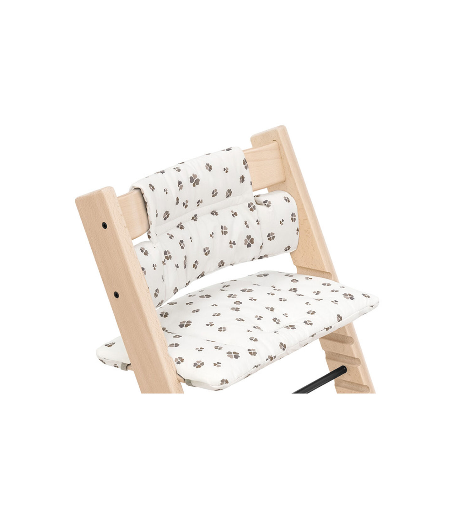 Tripp Trapp® Natural with Classic Cushion Lucky Grey.  view 1