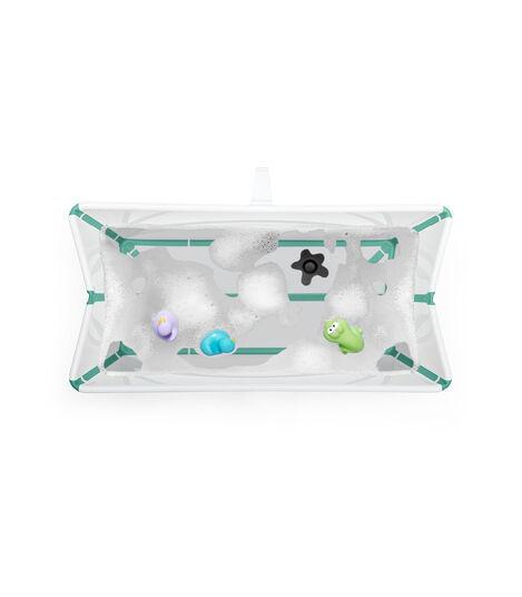 Stokke® Flexi Bath® bath tub, White Aqua. Open. view 4