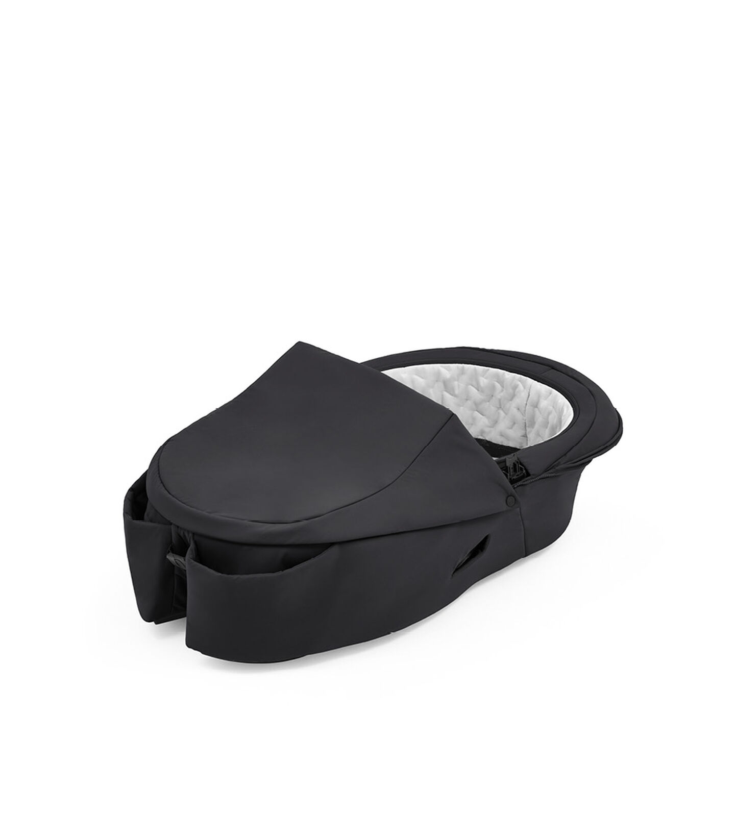 Stokke® Xplory® X Rich Black Carry Cot, no canopy. view 2
