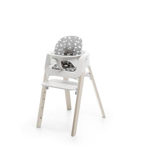 Stokke® Steps™ Baby Set kussen in de kleur Grey Clouds, Grey Clouds, mainview view 2