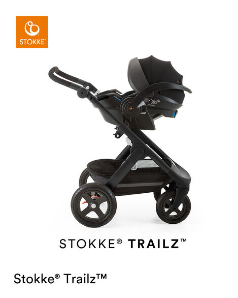 Stokke® iZi Go Modular™ X1 by Besafe®, Black. Mounted on Stokke® Trailz™. view 10