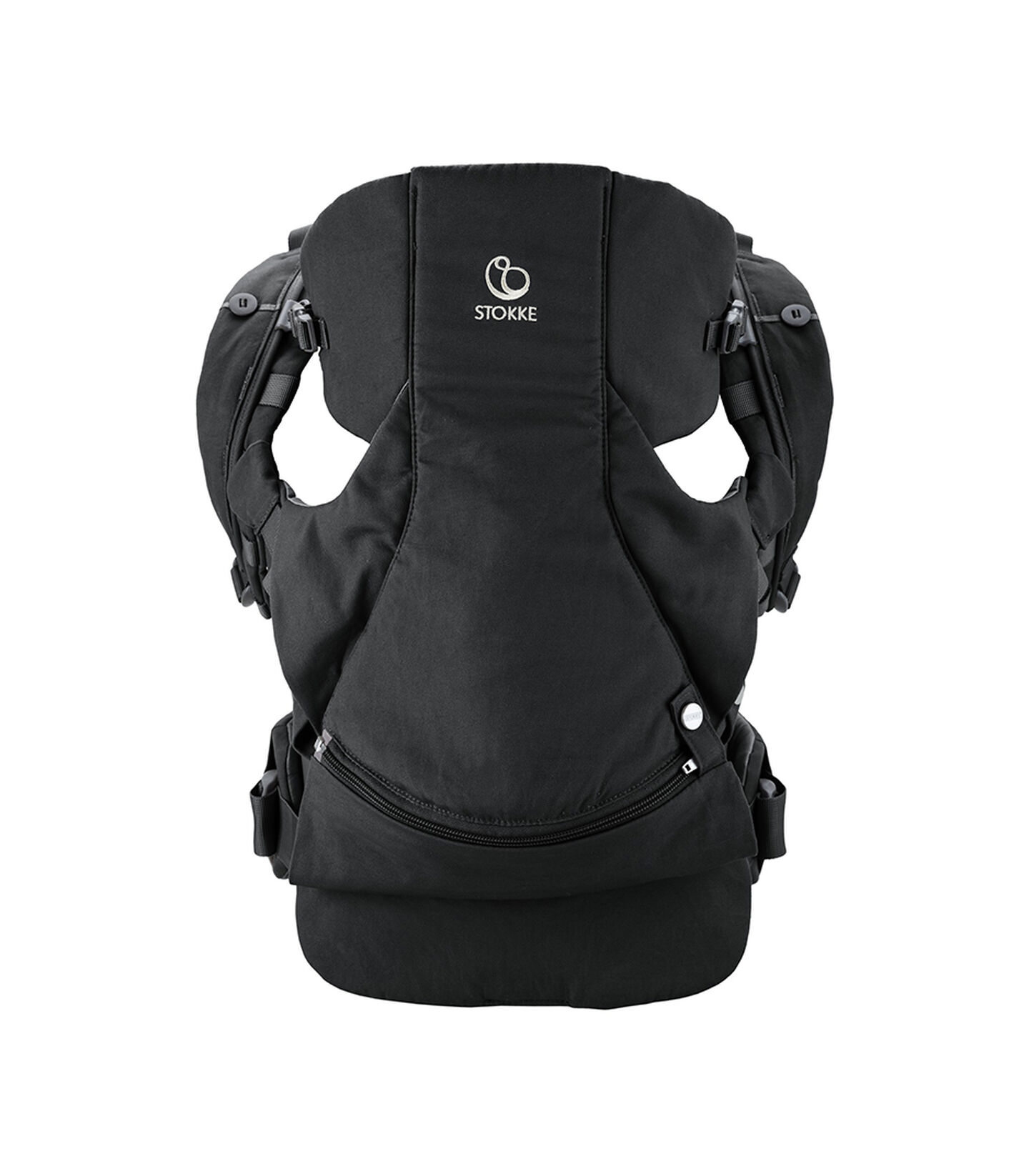 Stokke® MyCarrier™  Bauchtrage Black, Black, mainview view 2