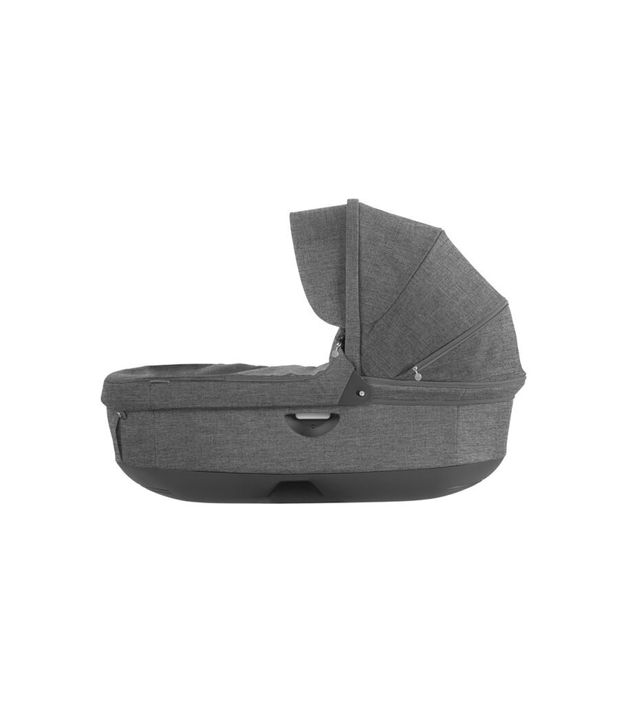 Stokke® Stroller Carry Cot. Black Melange. (Canopy not included).