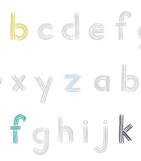 Stokke® Sleepi™ Mini Fitted Sheet Pehr Rainbow Alphabet Line, Rainbow Alphabet Lines, mainview view 2